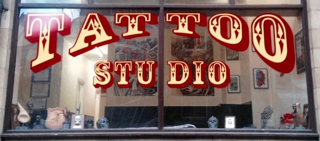 Tattoo Studio Window Display